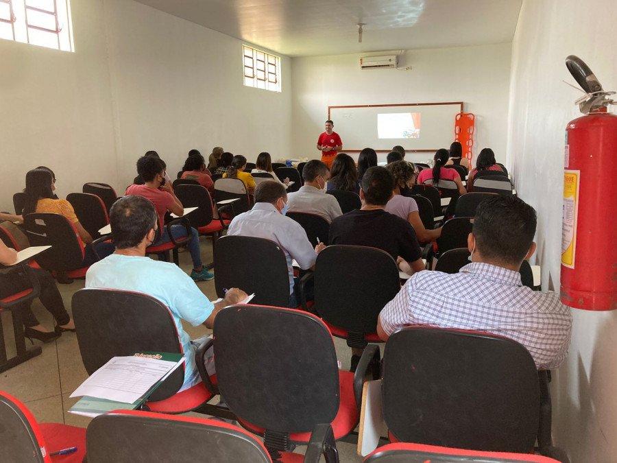 Capacitação conta com a participação de servidores de todas as áreas do HRG (Foto: Divulgação)