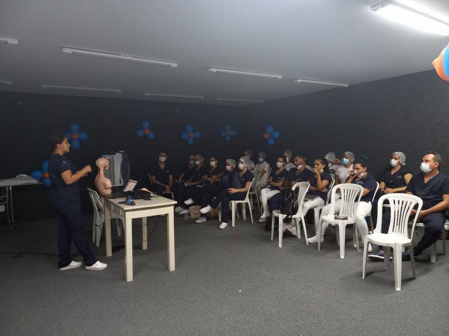 Alunos da Unitins apresentaram resultados de estudos no Hospital Regional de Augustinópolis (Fotos: Ananda Portilho)