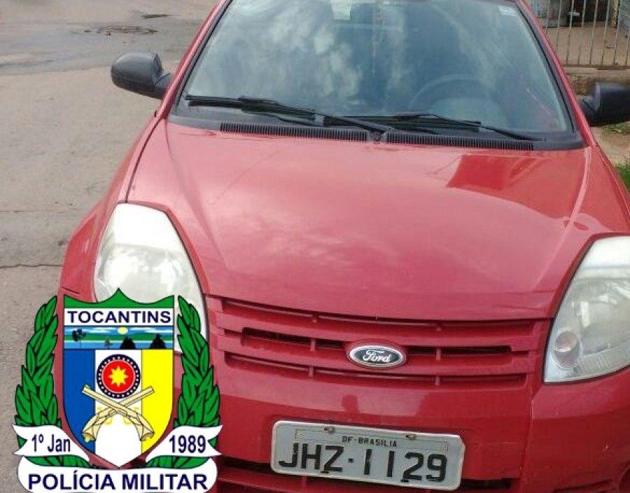 PM recupera veículo com restrição de roubo/furto ocorrido em Brasília-DF
