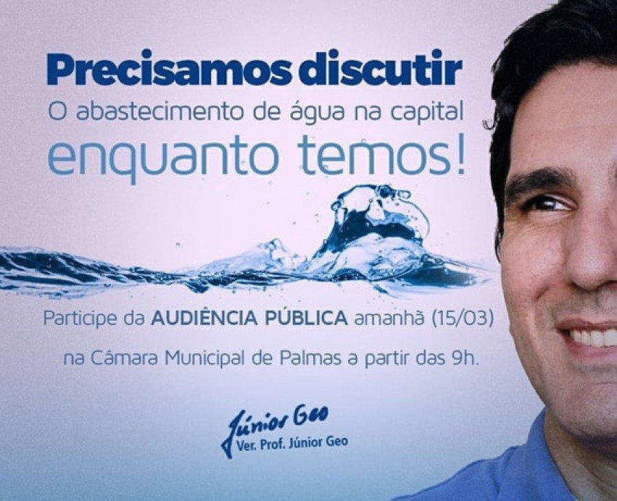 Convite - Audiência Pública sobre abastecimento de água na capital