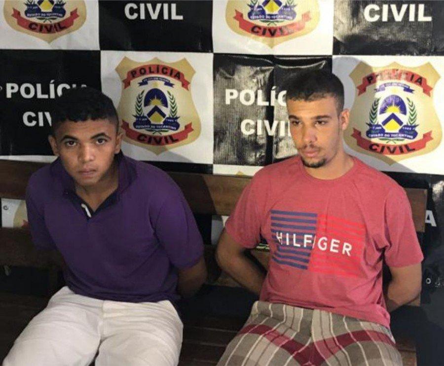 Jailson (e) é investigado por diversos homicídios ocorridos em Tocantinópolis e em Araguaína, e Gabriel (d) possivelmente é comparsa de Jailson