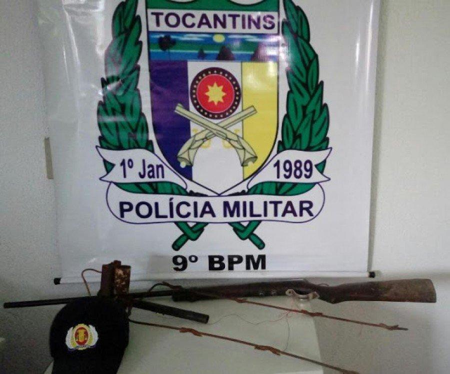 Armas apreendidas pela PM em São Miguel