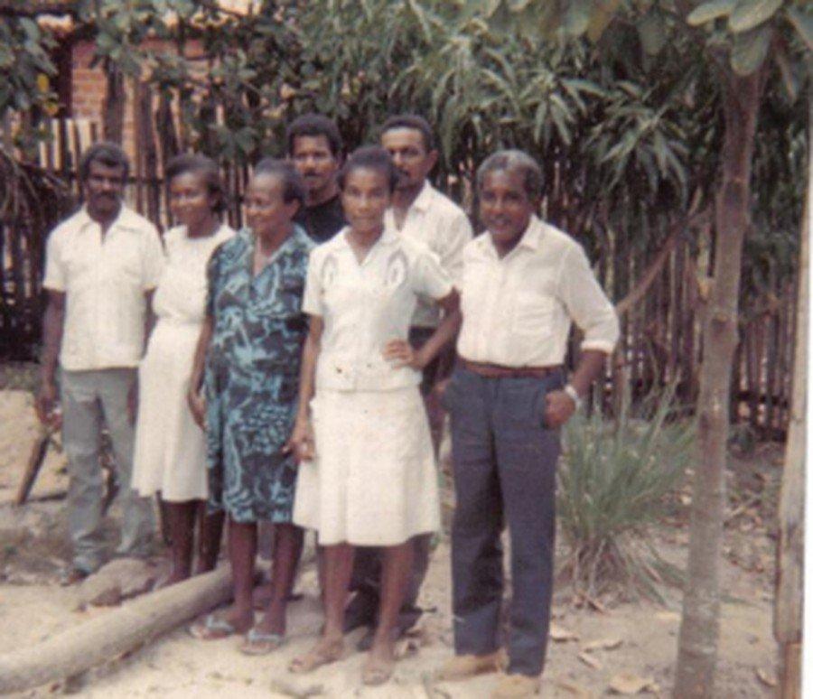 Família comprovou que morava na Ilha de São Vicente há gerações (Foto: Arquivo Pessoal)