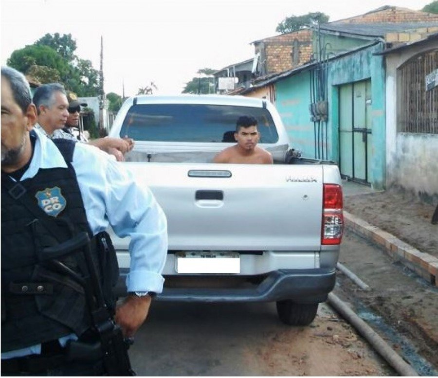 O suspeito foi preso em Marituba-PA