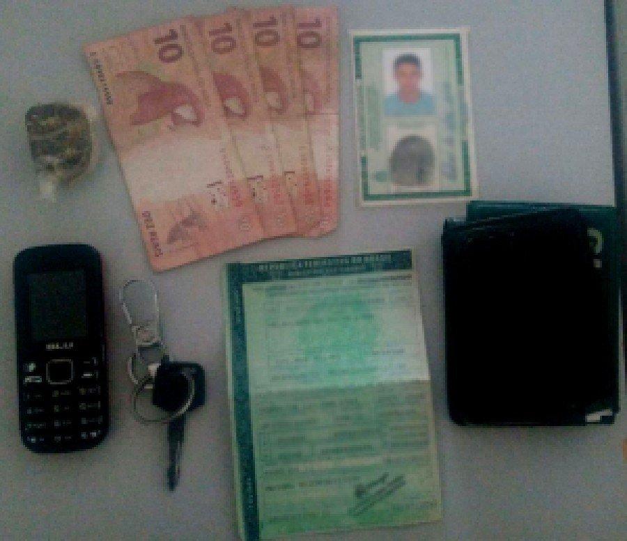 Material apreendido pela PM em Araguatins em posse do suspeito