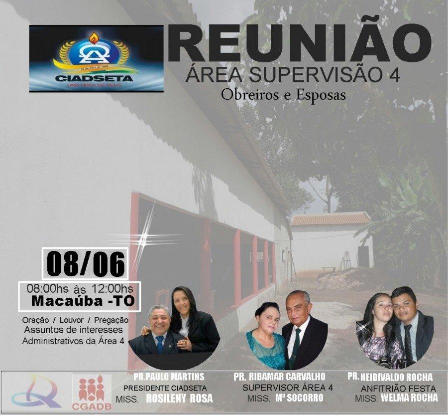 Reunião acontecerá neste sábado, 8, no Distrito de Macaúba
