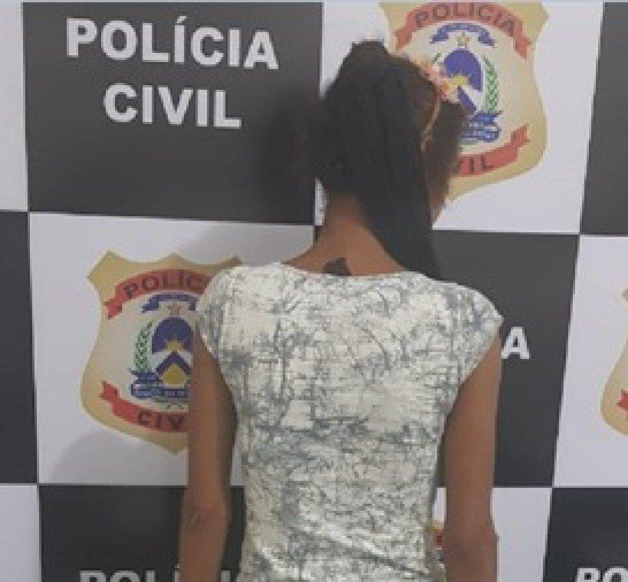Mulher suspeita de aplicar golpes com cartão bancário furtado de idoso foi presa pela Polícia Civil em Xambioá