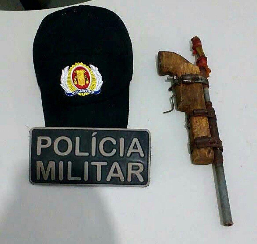 Arma apreendida apreendida pela PM em Ananás
