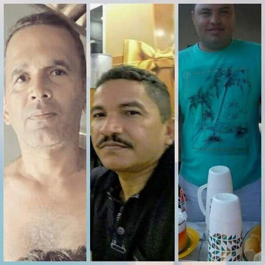 Da esquerda p/direita, Vereador Antônio da Conceição Aguiar, Secretário de cultura de São João do Sóter, Cícero Rocha, e Júnior do Nasa