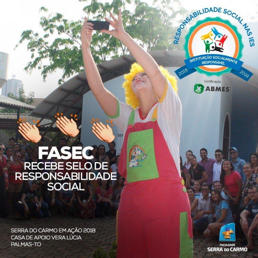 Fasec recebe selo de Responsabilidade Social