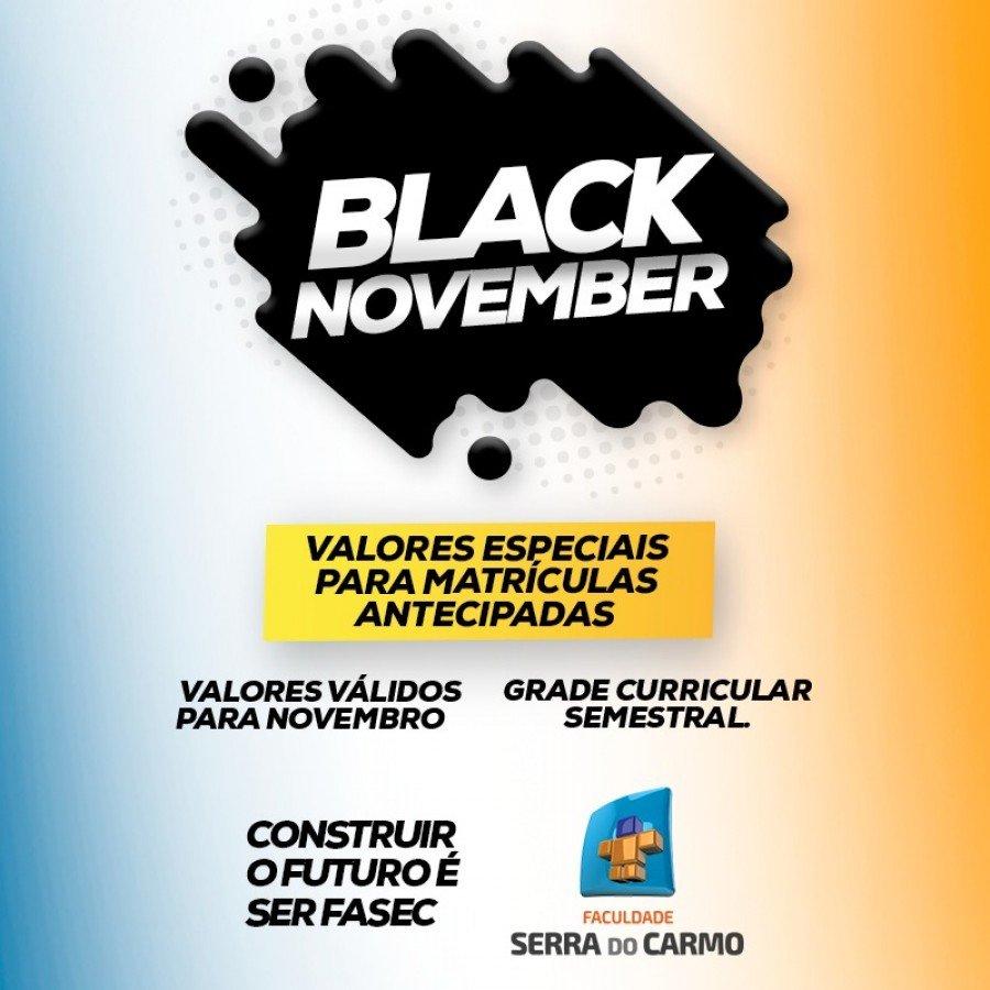 Black November da Faculdade Serra do Carmo tem valores especiais para matrículas e rematrículas