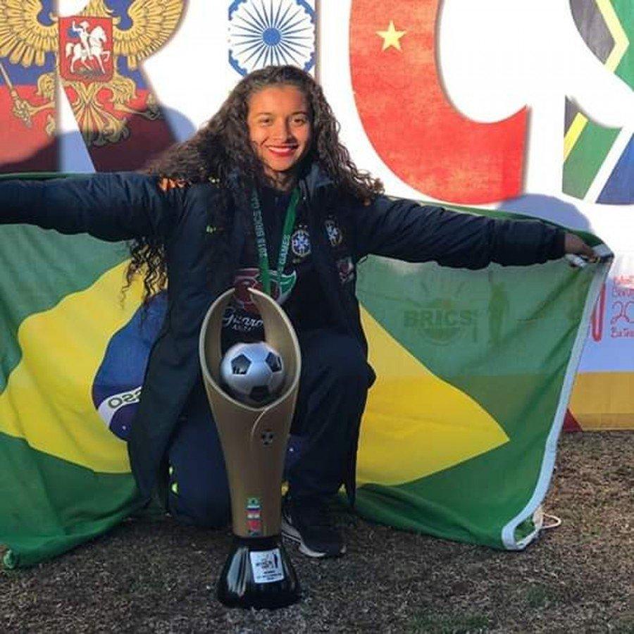 Na seleção sub-17, Gisseli foi campeã sul-americana (Foto: CBF)