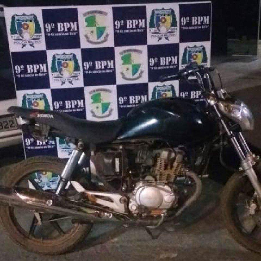 Motocicleta  apreendida em Augustinópolis