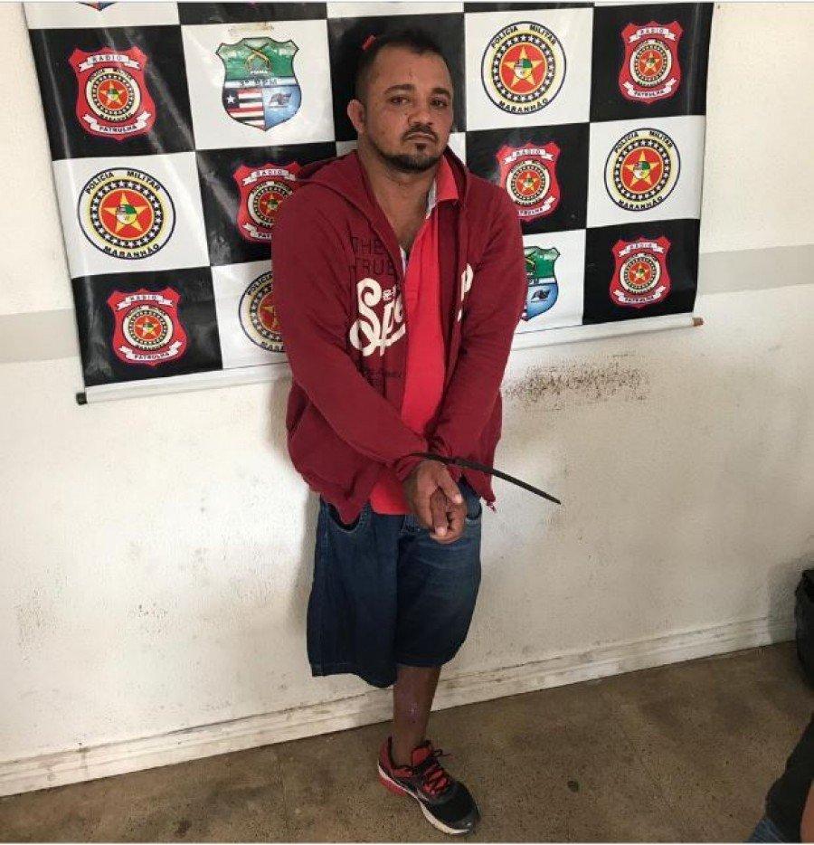 Ideglan Ribeiro foi preso nesta quarta-feira (23), no bairro Bacuri em Imperatriz-MA