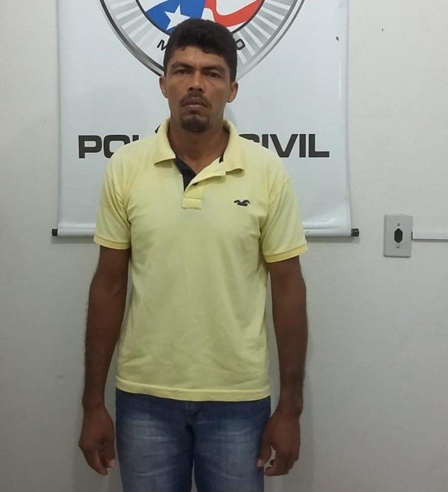 Adaílton da Silva dos Santos foi preso por suspeita de estupro de vulnerável em Alto Parnaíba-MA (Foto: Divulgação/Polícia Civil)